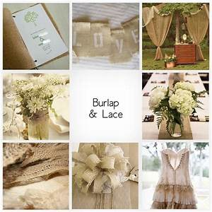 Burlap lace on invitations centerpeices gift boxes for Burlap and lace wedding decorations