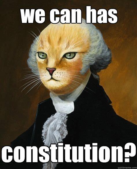Constitution Memes - we can has constitution george washington cat quickmeme