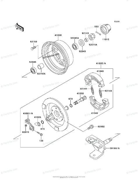 Kawasaki Atv Oem Parts Diagram For Front Hub