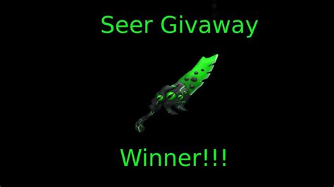 Take pleasure in the roblox mm2 activity far more with the pursuing murder mystery 2 codes that people have! MM2 Seer Giveaway Winner!!!! (Read Desc) - YouTube