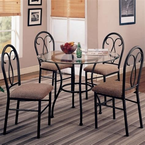 wrought iron kitchen chairs chic small dining room design