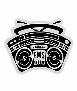 Famous Stars & Straps Boombox BOH Sticker | Zumiez