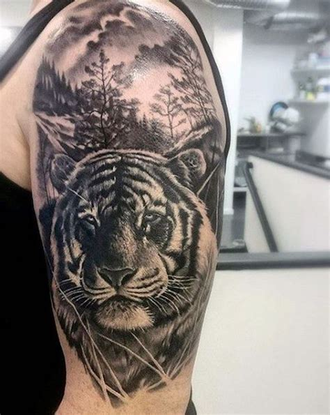 1001 ultra coole tiger ideen zur inspiration trends - Männer Tattoos Oberarm