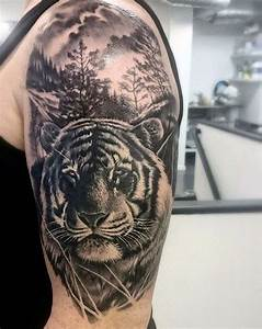 Uhren Tattoos Vorlagen : 1001 ultra coole tiger tattoo ideen zur inspiration tattoos ~ Frokenaadalensverden.com Haus und Dekorationen
