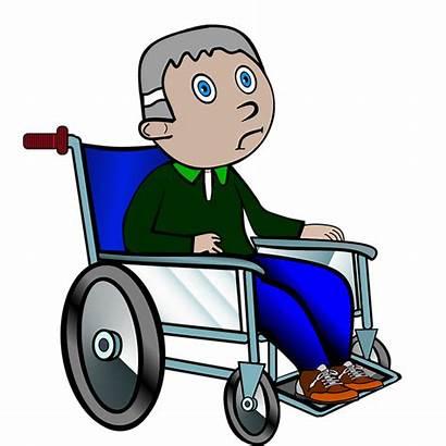 Wheelchair Wheelchairs Clipart Pixabay Sjuk Rollstuhlfahrer Grandpa