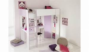 Lit En Hauteur Enfant : lit mezzanine fille bureau dressing beaut novomeuble ~ Melissatoandfro.com Idées de Décoration