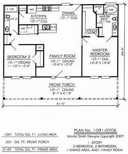 Nice Two Bedroom House Plans 14 2 Bedroom 1 Bathroom