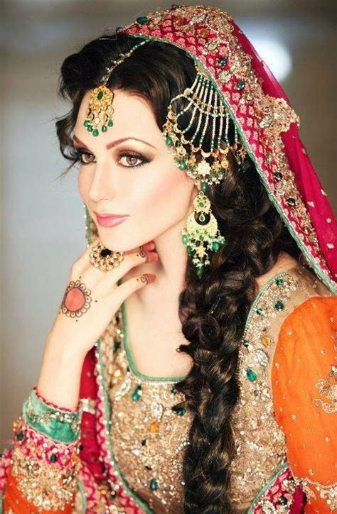 mehndi hairstyle  long hair
