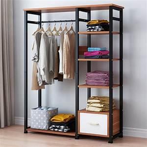 Freestanding, Clothes, Garment, Organizer, Closet, Metal, Garment, Rack, -, Walmart, Com