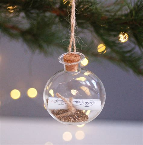 personalised  hanging christmas decoration bauble
