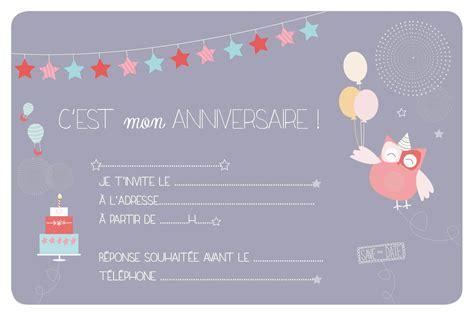 Carte Anniversaire Fille by Carte D Invitation Anniversaire Fille 10 Ans 224 Imprimer