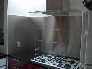 Stainless steel backsplash panel for Stainless steel backsplash