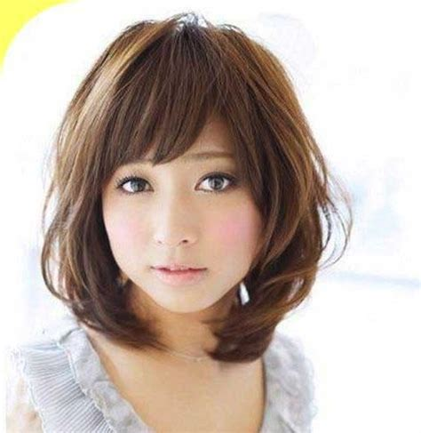 related  short hairstyle   face asian girl