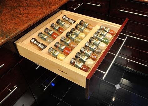 spice drawer organizer in drawer spice racks ideas for high comfortable cooking