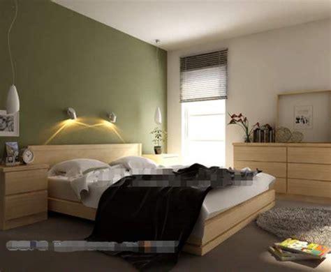 chambre à coucher simple simple chambre verte mur du fond 3d model free 3d
