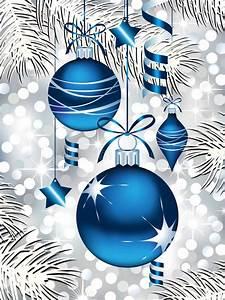 Blue, Christmas, Ornaments, Royalty, Free, Stock, Photo