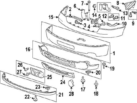 Gmc Part Diagram by Parts 174 Gmc Lower Grille W Denali Partnumber 25832387