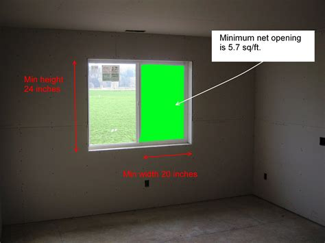 Residential Code Requirement For Egress Window