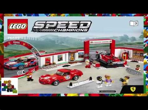 How to download building instructions online. LEGO instructions - Speed Champions - 75889 - Ferrari Ultimate Garage (Book 3) - YouTube