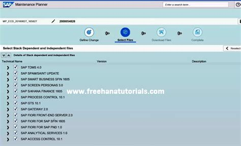 sap hana tutorials free s 4 hana maintenance planner