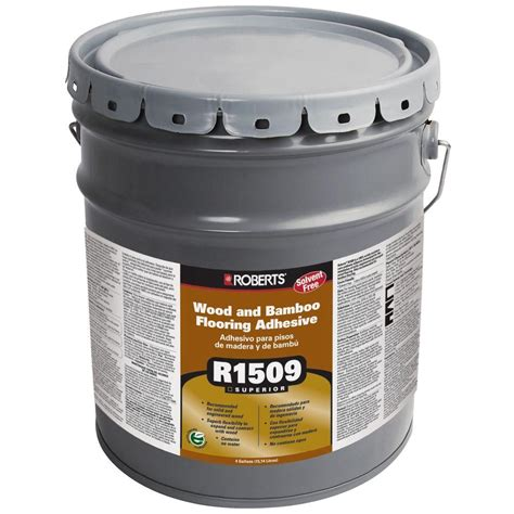 wood flooring urethane adhesive roberts 4 gal wood and bamboo flooring urethane adhesive r1509 4 the home depot