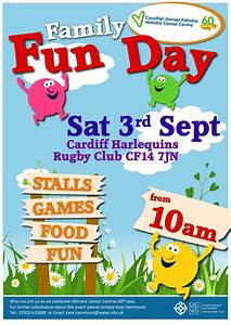 family fun day sat 3rd sept transforming cancer services With fun day poster template