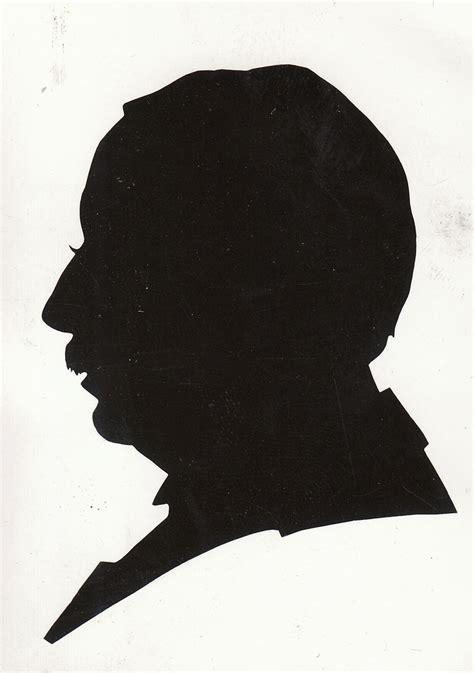 portrait silhouette scherenschnitte