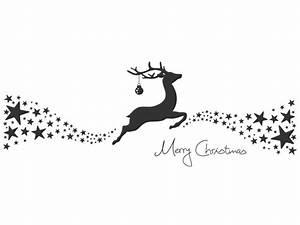 Merry Xmas Schriftzug : weihnachtsrentier wandtattoo rentier sterne merry christmas bei ~ Buech-reservation.com Haus und Dekorationen