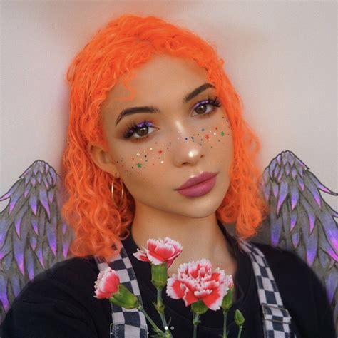 Neon Peach Bright Peach Vegan Semi Permanent Hair Dye