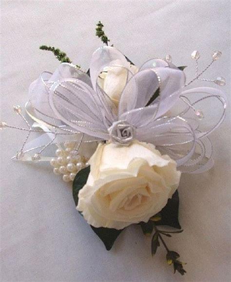 silver wedding anniversary corsage  lizannflorals