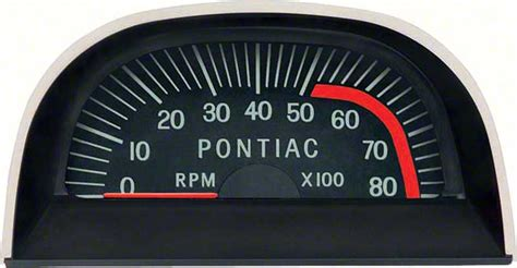 Pontiac Hood Tach Red Line Point Ignition