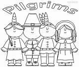 Coloring Pilgrims Pilgrim Indian Printable Template Cool2bkids Templates Paper sketch template