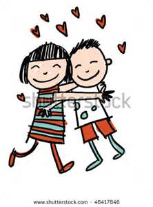 Friend Hug Clip Art