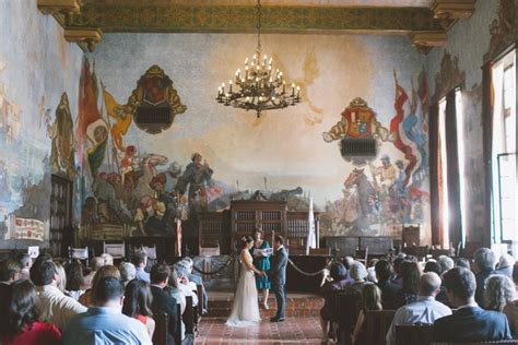 santa barbara courthouse mural room mural room wedding ceremony delores photography