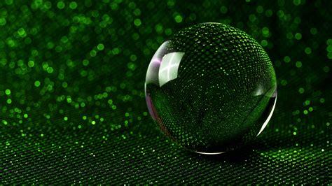 wallpaper sphere  glass ball green glitter