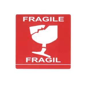Packaging Fragile Label
