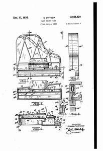 Patent US2024829 - Baby grand piano - Google Patents