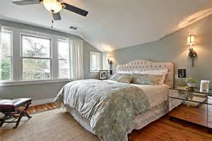Bedroom Gray Walls Photo