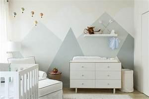 dessin montagne stylise en couleur pour decorer les murs With couleur mur chambre enfant