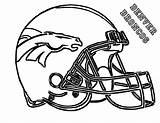 Broncos Denver Coloring Template Colouring Nfl Sheet Helmet Football Players Sketch sketch template