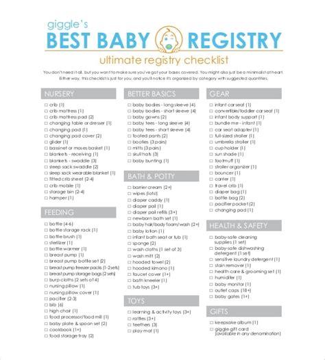 baby registry checklists best resumes