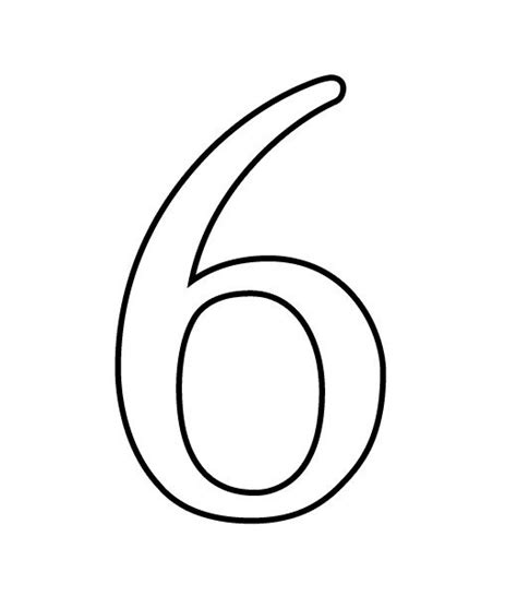 numbers black and white black and white number 6 clipart clipart suggest