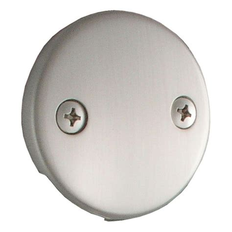 ldr industries double hole tub overflow plate 552 5111bn