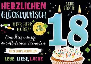 Geburtstagsbilder Zum 18 : endlich 18 geburtstag echte postkarten online versenden ~ A.2002-acura-tl-radio.info Haus und Dekorationen