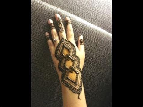 simple arabic henna easy unique diamond mehndi design