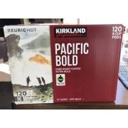 And for many people a cup of coffee ranges from 12 to 20 ounces. Kirkland Pacific Bold Coffee Nutrition Facts - NutritionWalls