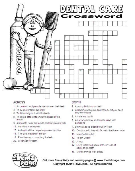 Free Printable Kids Crossword Puzzles