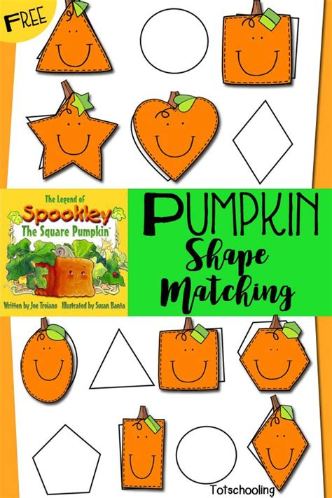 pumpkin shape matching inspired  spookley  square