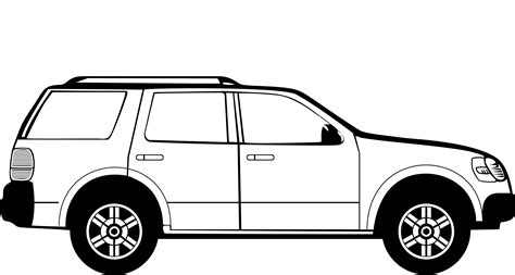 family car family car clipart in black and white 101 clip art