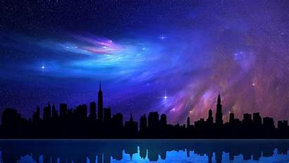 Cool Wallpapers Neon Skyline Cityscape Painted Wallpapersafari